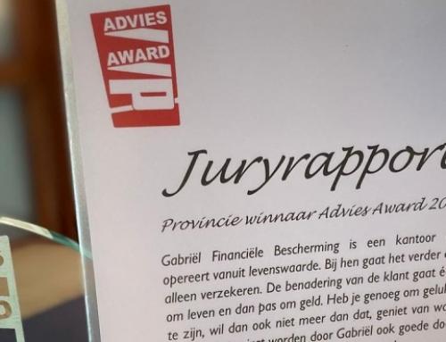Gabriël halve finalist voor de Advies Awards 2020